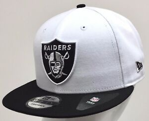 Image is loading NEW-ERA-NFL-9FIFTY-SNAPBACK-OAKLAND-RAIDERS-White- 39f6bb502ca