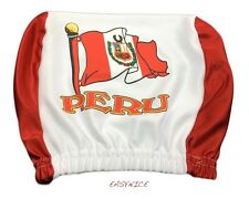 Peru Headrest Cover Car Seat Truck Flag Peruvian Lima Sol Latino Spanish 1Sz