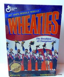 GOLD-Medal-Gymnastics-TEAM-USA-Women-039-s-Wheaties-Cereal-Box-ATLANTA-1996
