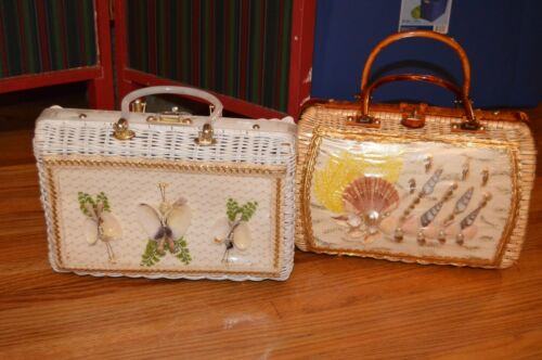 lot 2 atlas vintage lucite wicker window purse han