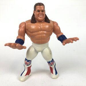 British-Bulldog-WWF-Hasbro-5-034-Wrestling-Action-Figure-WWE-Series-4-1991