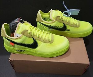 Détails sur Off-White x Nike Air Force 1 Low Volt 43EU 9.5US Neuf