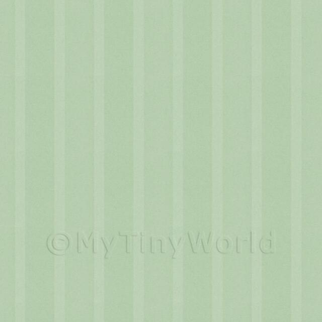 Puppenhaus Miniatur Dicke hellgrün gestreifte Tapete
