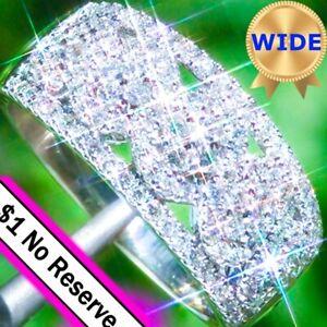 Diamond-Ring-14k-Gold-GREGG-RUTH-2-51ct-VS1-E-Diamond-Wide-Band-Eternity-Ring