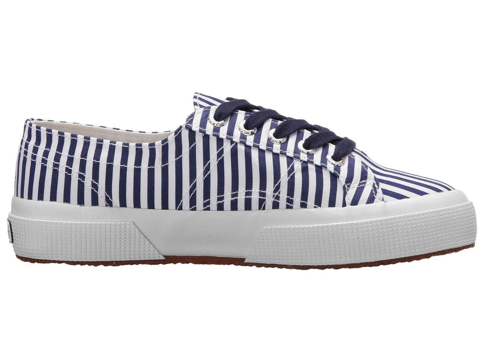 Superga 2750 FABRICSHIRTU FABRICSHIRTU FABRICSHIRTU  Lace-Up Sneaker Navy Stripe Size US Women 9 EU 40 01deaa