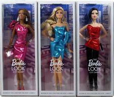 BARBIE: THE LOOK CITY SHINE LOT OF 3 DOLLS 2014 Mattel Black Label NEW