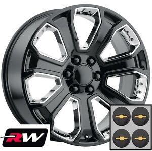 22-x9-034-Chevy-Tahoe-Replica-5660-Wheels-Gloss-Black-Rims-CK164-Chrome-Inserts