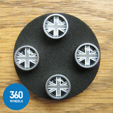 NEW GENUINE LAND RANGE ROVER TYRE VALVE STEMS DUST CAP LR027666 BLACK UNION JACK