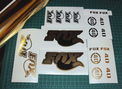 Fox 40 RC2 Forks Gold Chrome with Black Decals Set Stickers Racing MTB DH