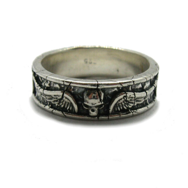 Genuine sterling silver ring band solid hallmarked 925 R001914