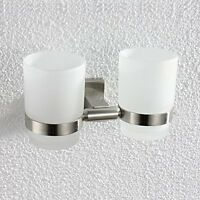 Wall-mounted Toothbrush Holder Double Holder, Brushed Nickel G1001, New, Free Sh on sale