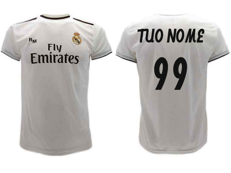 Shirt Real Madrid Personalized 2019 Official Uniform 2018 Ihre Nominalnummer