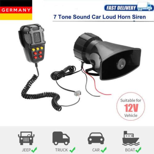 12V 7 Töne Kabellos Sirene Laut Auto Warnung Alarm Polizeirevier Sirene Horn Neu
