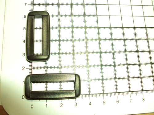"""plástico Negro Hebillas de bucle de 2 Barras para Cincha 30mm /""""B/"""" 10 un."""