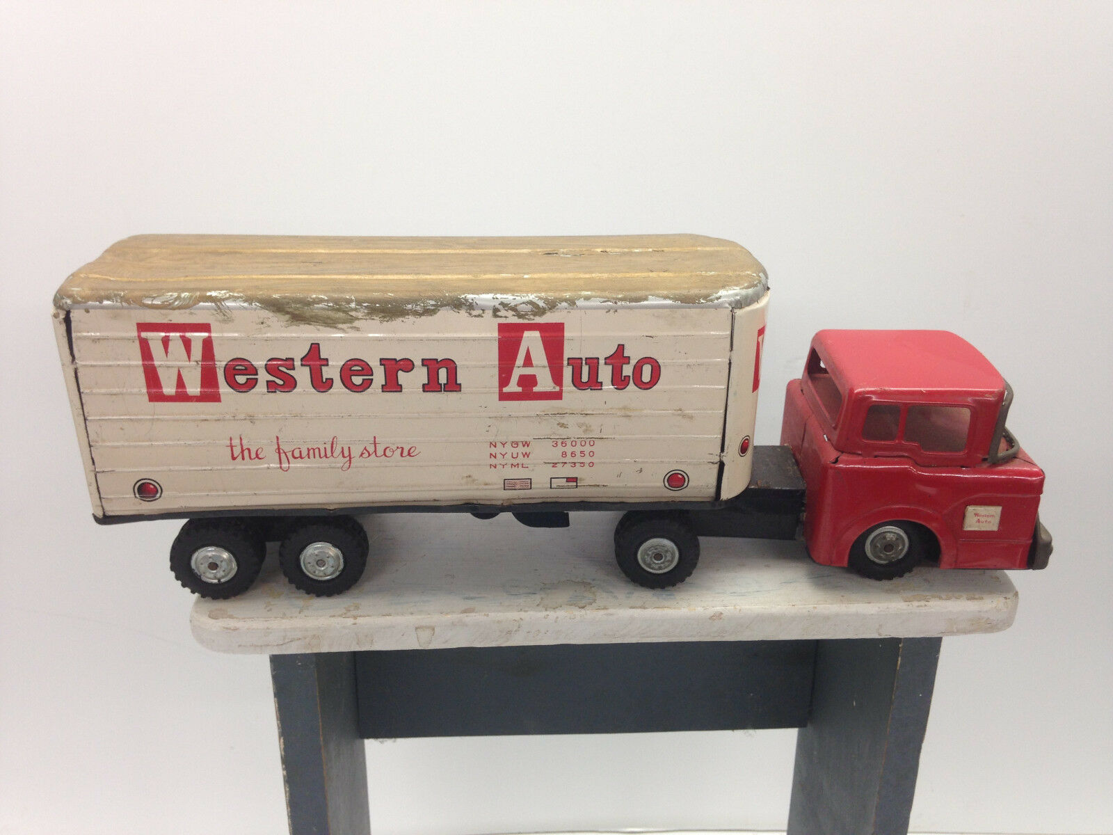 Antike linie mar spielzeug western - traktor japan   102 innenauskleidungstafein truc