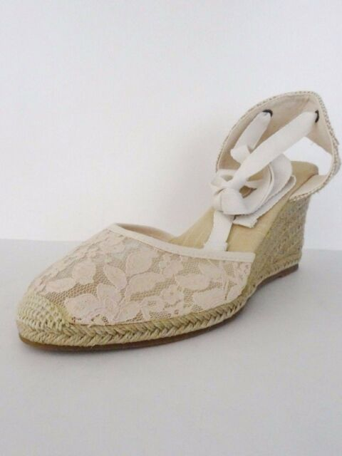 01e2b71856d NIB Soludos Womens Chantilly Lace Espadrille Tall Wedge Sandal Sz 10 M  Blush  95