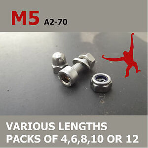 M5-Allen-Socket-Cap-Head-Bolts-Nuts-amp-Washers-A2-70-Stainless-Steel
