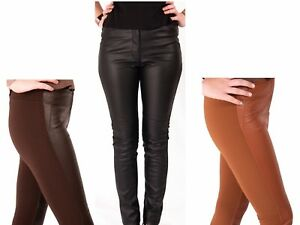 Leather-Look-Leggings-Trousers-Ladies-H-amp-M-Stretch-Pants-6-10-New-Skinny-Fashion