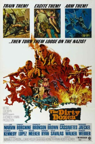 THE DIRTY DOZEN Movie Silk Fabric Poster Army WWII Millitary Marines