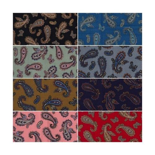 100/% Cotton Poplin Fabric Rose /& Hubble Percy/'s Paisley Leaves Flowers Floral