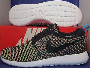 Détails sur Nike Flyknit Roshe Run Id Multicolore Sz 9 (718293 993
