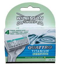 4 Wilkinson Quattro Titanium Sensitive Rasierklingen 4er Klingen Set /- 4x Stück