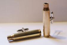 Brass Rifle Bullet Shell Casing Cufflinks Free Gift Bag
