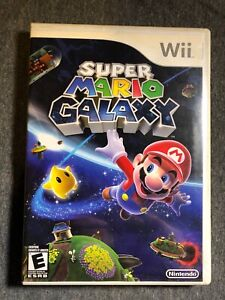 Super Mario Galaxy 1 (Nintendo Wii, 2007) Case Manuals Disc Complete CIB