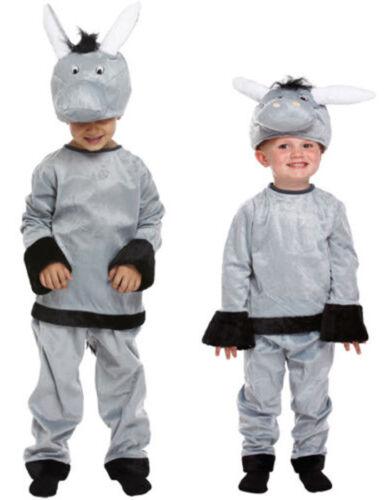 CHILD DONKEY COSTUME SCHOOL NATIVITY PLAY BOOK DAY ANIMAL FANCY DRESS 2-12 YEARS