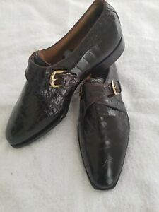 David Eden Genuine Alligator Shoes Size