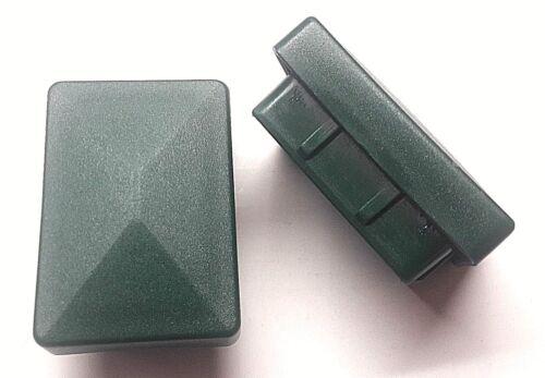 Cappuccio Pali recinzione copertura ottica verde doppio Bastone Stuoie RECINZIONE PALO 40x60mm 10