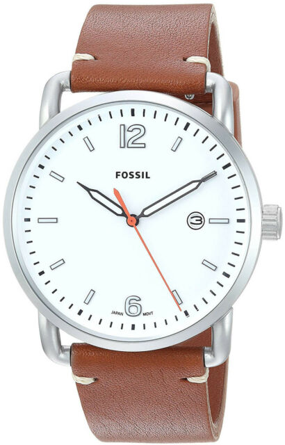 446b57d36 Men's Fossil The Commuter Light Brown Leather Band Watch FS5395 for ...