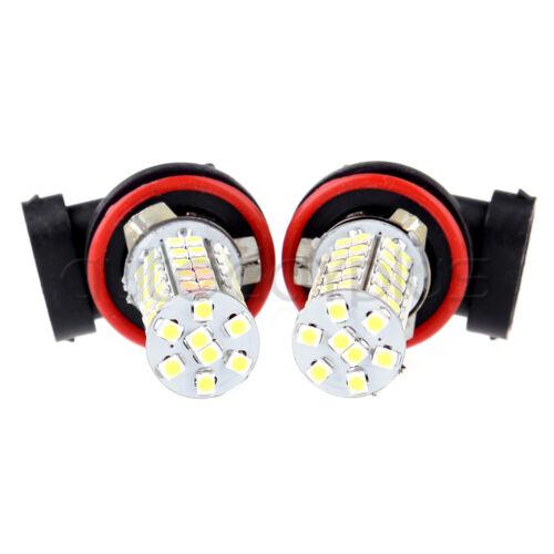 2X H11 6000K Xenon White 68 SMD Cree LED DRL Daytime Running Lights Bulbs Lamps