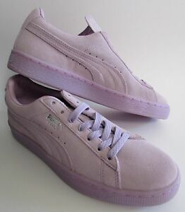 pretty nice 06685 877a2 Details about PUMA Suede Classic Mono Iced Purple Women's Sneakers 8.5 NWOB