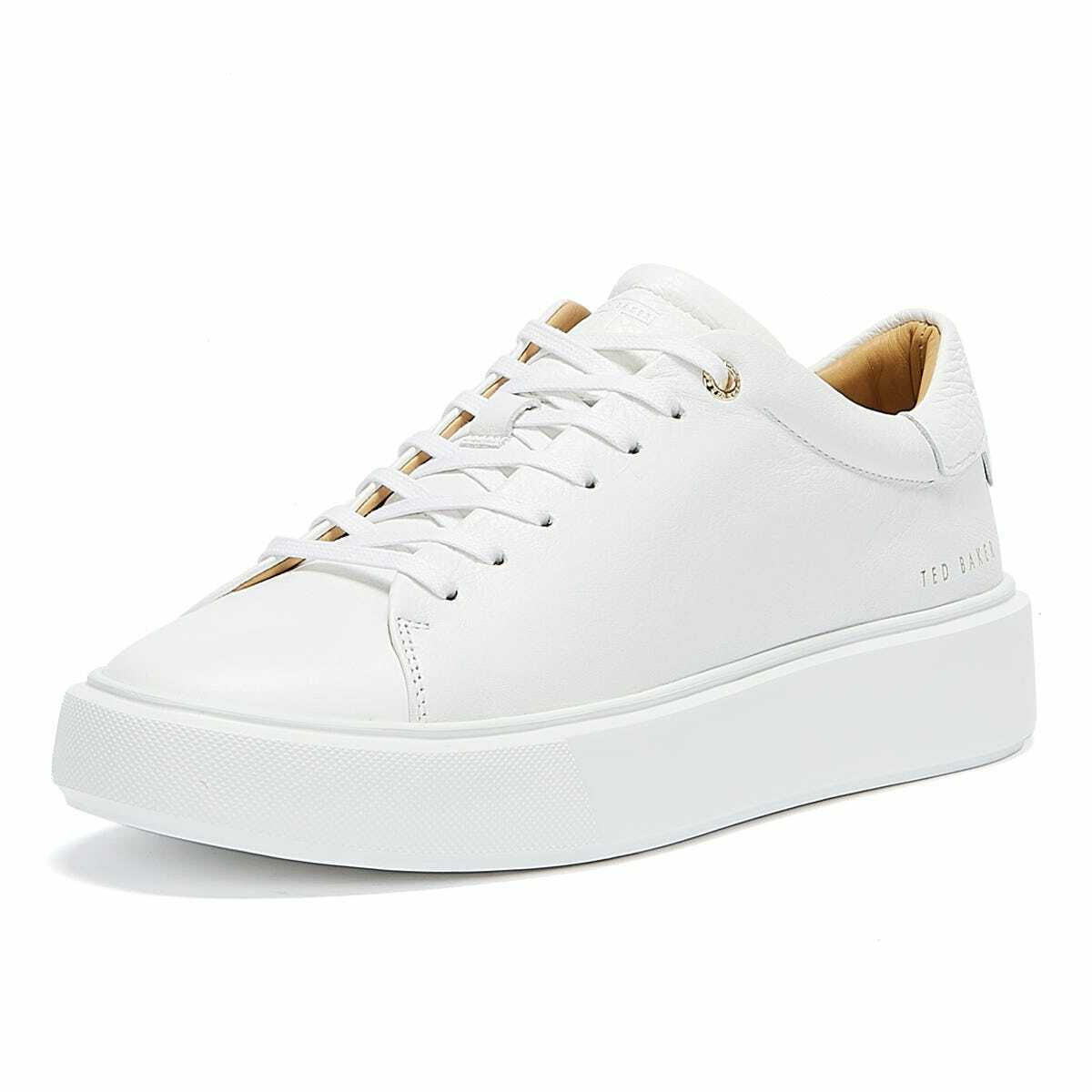 Ted Baker Yinka Womens White Trainers Casual Sneakers Running Sports Shoes