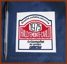 ADESIVO RALLYE MONTECARLO 75 LANCIA STRATOS FIAT 124 AB
