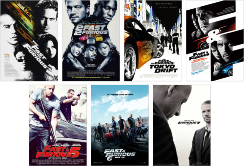 A4 A3 A2 Sets Available Fast /& Furious Complete Movie Poster Set