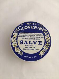 ❤️White Cloverine Salve Tin Box 1/2 EMPTY