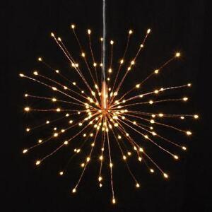 Copper-Starburst-Lights-50cm-160-LED-Indoor-Outdoor-Built-In-Timer-Battery-Oper