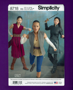 Simplicity Sewing Pattern 8718 Misses Costume Warrior Women Cosplay
