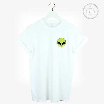 ALIEN POCKET t-shirt shirt tee unisex mens womens tumblr instagram / alien green