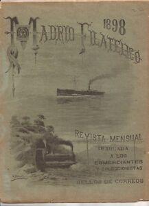 Revista-de-MADRID-FILATELICO-Octubre-de-1898-Miguel-Galvez-BONITA-Y-RARA