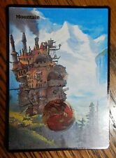 Magic the Gathering MTG Altered Art Ghibli Howl's Moving Castle basic Mountain