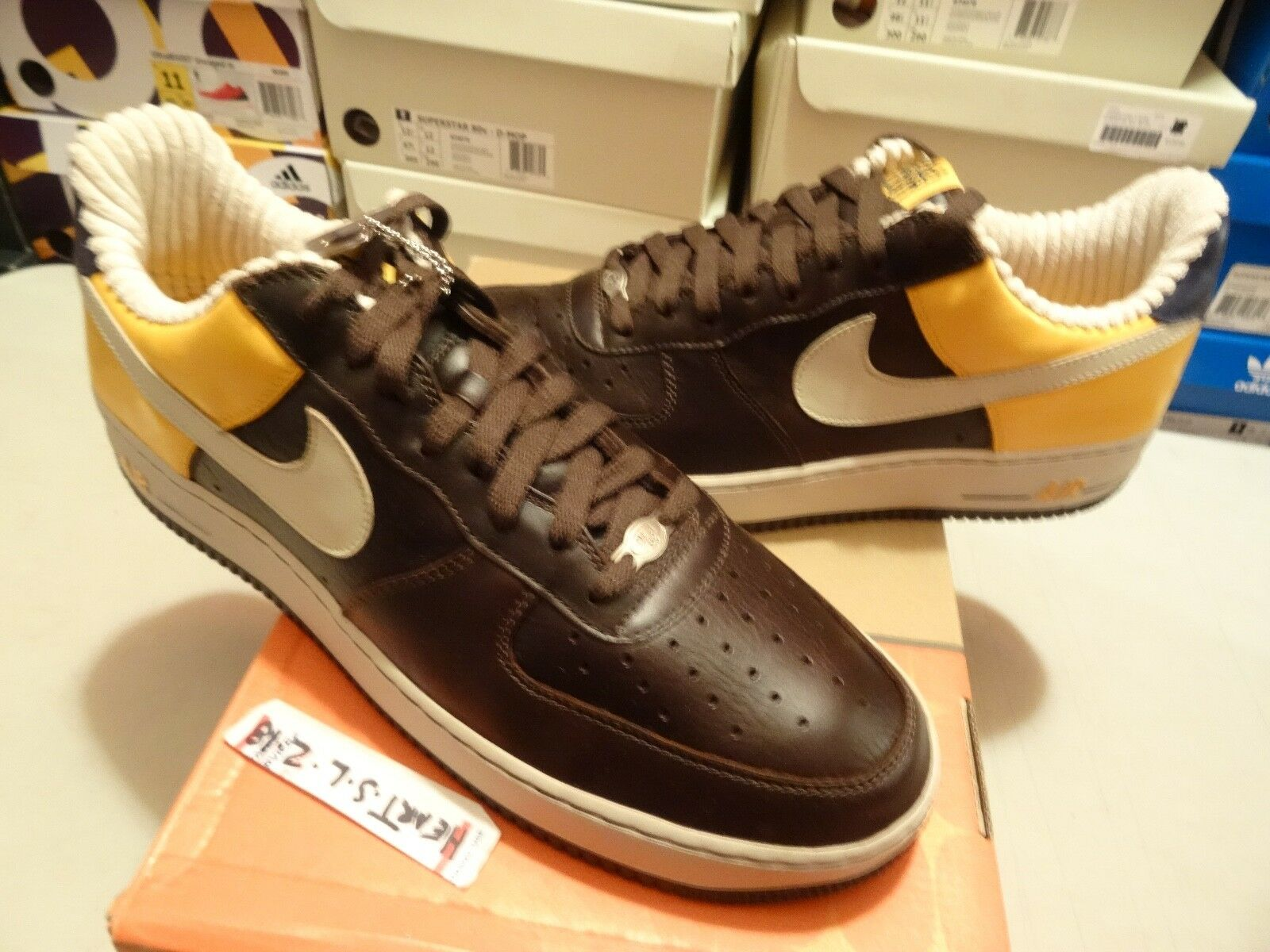 NEW 2006 Nike Air Force 1 ONE Premium  RENS  BRQE Brown gold 313641 222 SZ 13