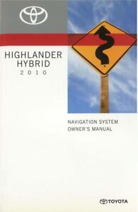Image Is Loading 2010 Toyota Highlander Hybrid Navigation System Owners Manual