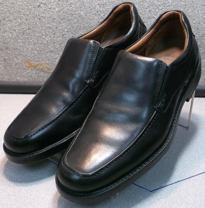 208995 WT50 Men's Shoes Size 10.5 M Black Leather Johnston Murphy WalkTest
