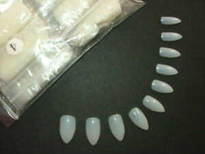 Stiletto-Full-Cover-False-Nails-in-Natural-White-amp-Clear-Pretty-Poppet