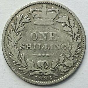 1884 Queen Victoria silver shilling (1884-SH-1)