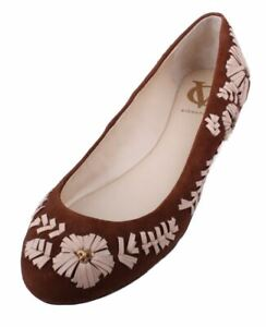 Vince-Camuto-Amaretto-Womens-Chestnut-Toasted-Almond-Suede-Leather-Ballet-Flats