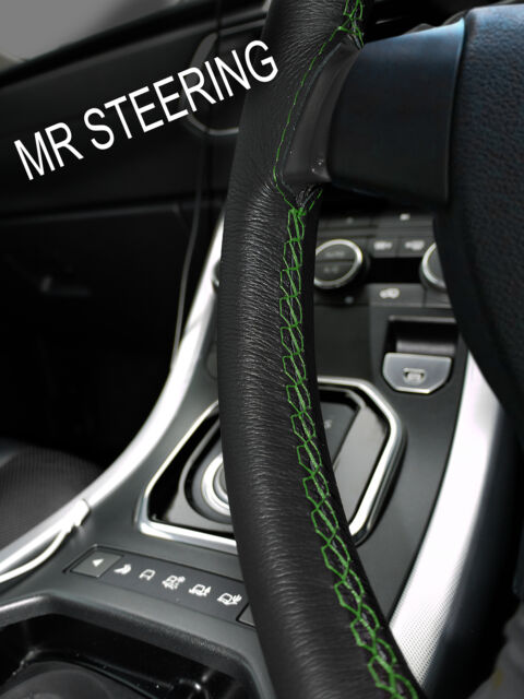 For Rover Mini Cooper True Leather Steering Wheel Cover 89 Green